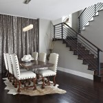 Greige Color for Contemporary Dining Room with Grey