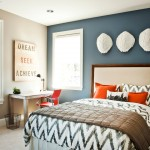 Greige Paint for Contemporary Bedroom with Carpet