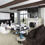 Greige Paint for Contemporary Living Room with Contemporary
