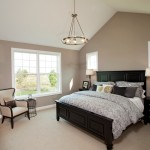 Greige Paint for Traditional Bedroom with Beige Carpet