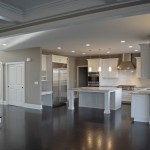 Greige Paint for Traditional Kitchen with Open Plan