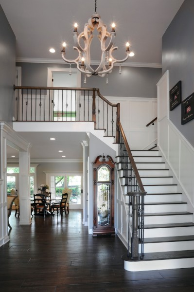 Greystone Hall for Traditional Staircase with Landing