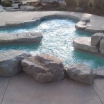 Grove Spa Springfield Mo for Rustic Pool with Boulder Spa