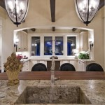 Gunnite for Traditional Kitchen with Pendant Lighting