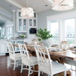 Guy Chaddock for Beach Style Dining Room with Glass Cabinets