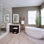 Hadinger Flooring for Contemporary Bathroom with Houseplants