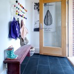 Hadinger Flooring for Modern Entry with Hang It All