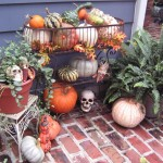 Halloween Tombstone Sayings for Eclectic Patio with Diy Halloween Decorating