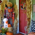 Halloween Tombstone Sayings for Traditional Entry with Porch Decor