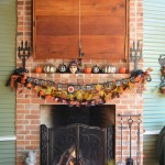 Halloween Tombstone Sayings for Traditional Porch with Brick Fireplace