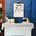 Halloween Tombstone Sayings for Transitional Living Room with Bat Decor