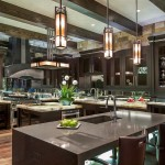 Hammerton Lighting for Contemporary Kitchen with Waterfall Counter