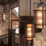 Hammerton Lighting for Craftsman Spaces with Custom Mica and Mesh Pendants