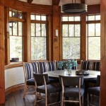 Hammerton Lighting for Rustic Dining Room with Wood Dining Chairs