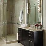 Hammerton Lighting for Transitional Bathroom with Stainless Bath Hardware