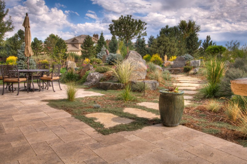 Hanover Pavers for Traditional Landscape with Tall Grass