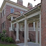 Hanson Brick for Traditional Exterior with Trellis