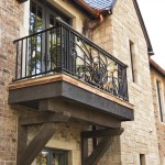 Hanson Brick for Transitional Exterior with Balcony