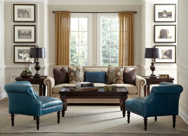 Havertys Furniture for Transitional Living Room with Transitional