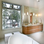 Hawthorne Threads for Contemporary Bathroom with Soaker Tub