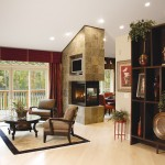 Heatilator for Traditional Living Room with Armoire