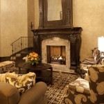 Heatilator for Traditional Living Room with Wingback Chair