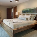 Hemnes Bed Frame for Contemporary Bedroom with Ceiling Fan