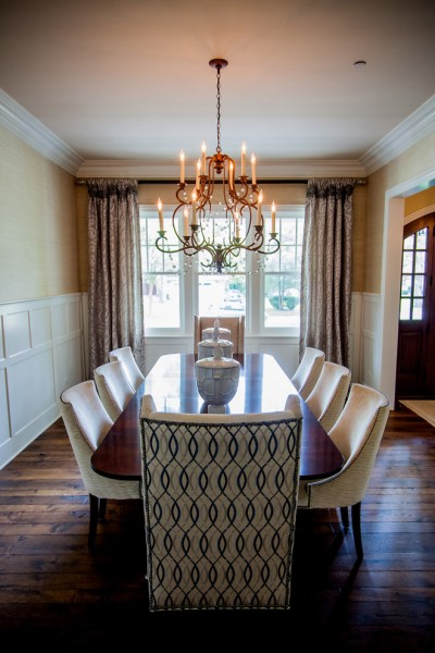 Hickory Chair for Traditional Dining Room with Applied Panel Molding