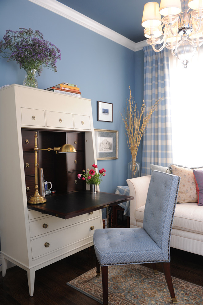 Hickory Chair for Traditional Home Office with Chandelier Shades