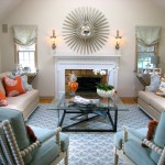 Hickory Chair Furniture for Traditional Family Room with Pop of Color