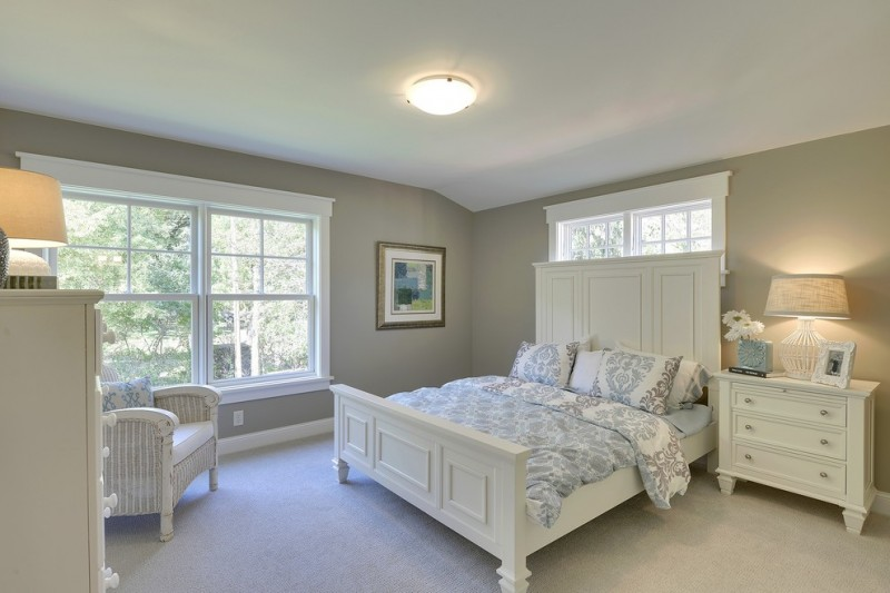 Hirshfields for Traditional Bedroom with White Headboard