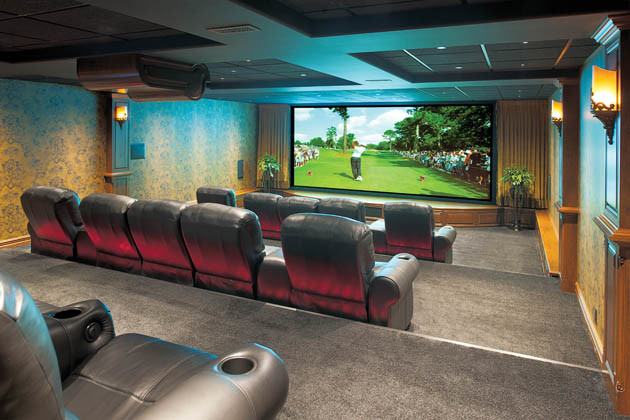 Hite Electric for Traditional Home Theater with Marble