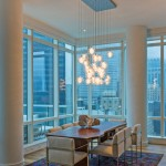 Holly Hunt Lighting for Contemporary Dining Room with City Views