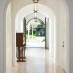 Holly Hunt Lighting for Mediterranean Entry with Hall