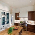 Holly Hunt Lighting for Traditional Kitchen with Butcher Block Countertops