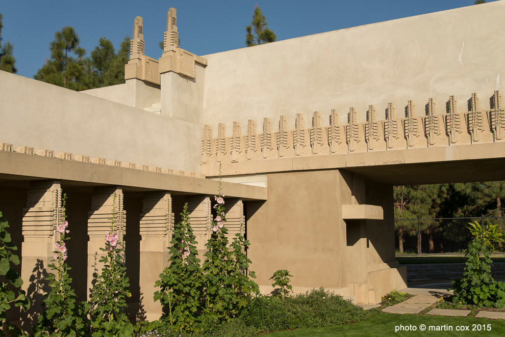 Hollyhock House for Craftsman Exterior with Hollyhock House