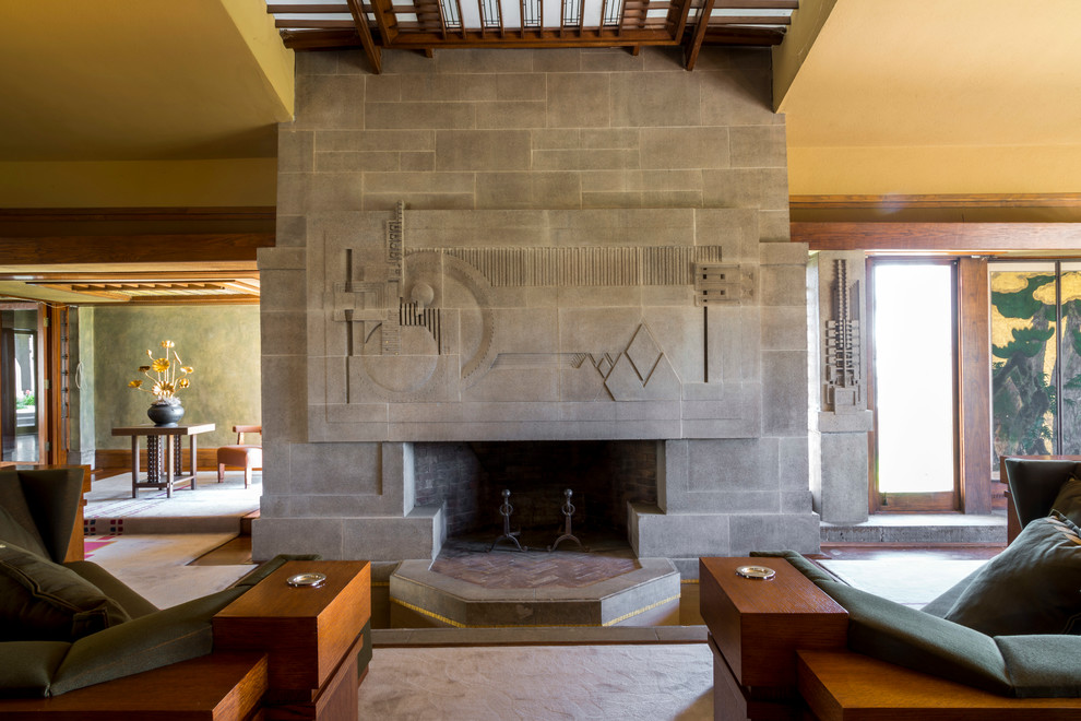 Hollyhock House for Modern Living Room with Modern