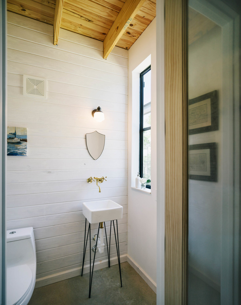Homedepotess for Industrial Bathroom with Steel Windows