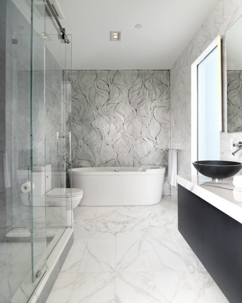 Hometown Property Management for Modern Bathroom with Glass Mosaic