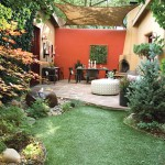Homewise Santa Fe for Mediterranean Landscape with Red Privacy Wall