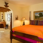 Homewise Santa Fe for Southwestern Bedroom with Kiva Fireplace