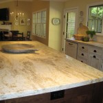 Honed Granite for Traditional Kitchen with White Subway Tile