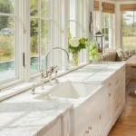 Honed Marble for Beach Style Kitchen with Marble Countertops
