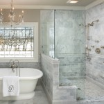 Honed Marble for Traditional Bathroom with Pony Wall