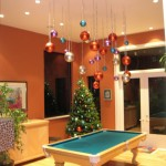 Hooked on Ornaments for Contemporary Dining Room with Bright Color