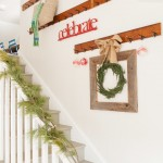 Hooked on Ornaments for Shabby Chic Style Staircase with Holiday