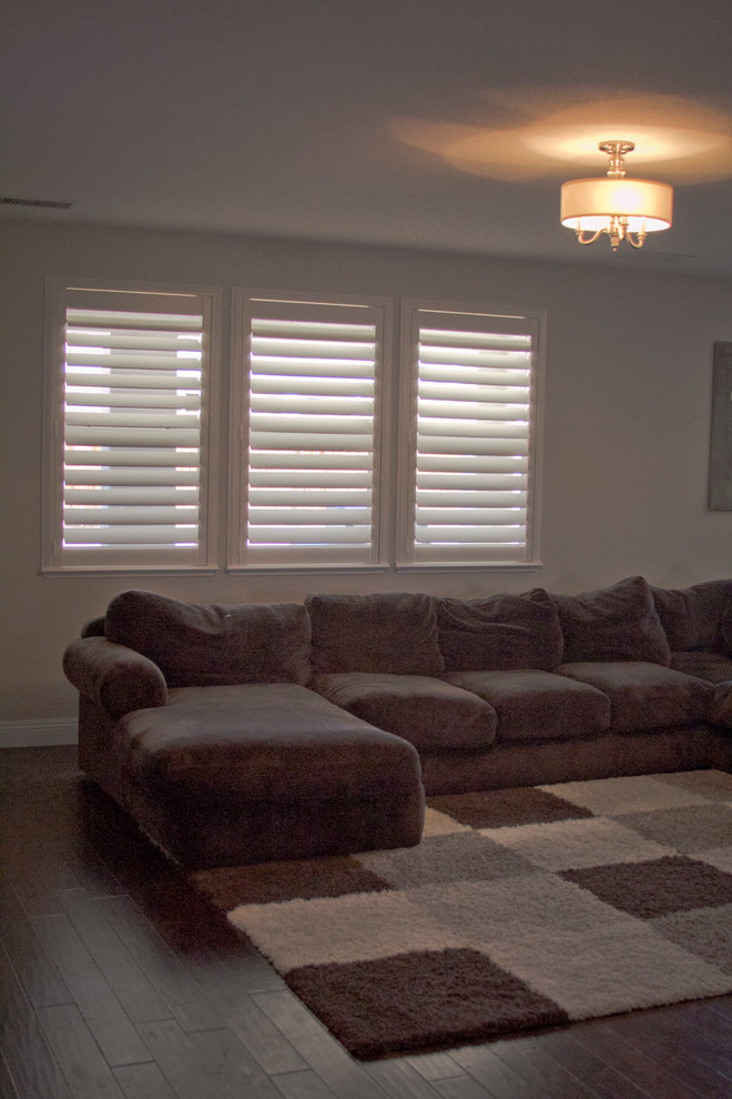 Horizons Window Fashions for Traditional Living Room with Horizon Window Fashions
