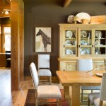 House Umber for Rustic Dining Room with Pine