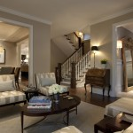 How Much Does a Spray Tan Cost for Traditional Living Room with Wood Trim
