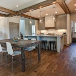 How to Clean Engineered Hardwood Floors for Traditional Dining Room with Coffered Ceiling